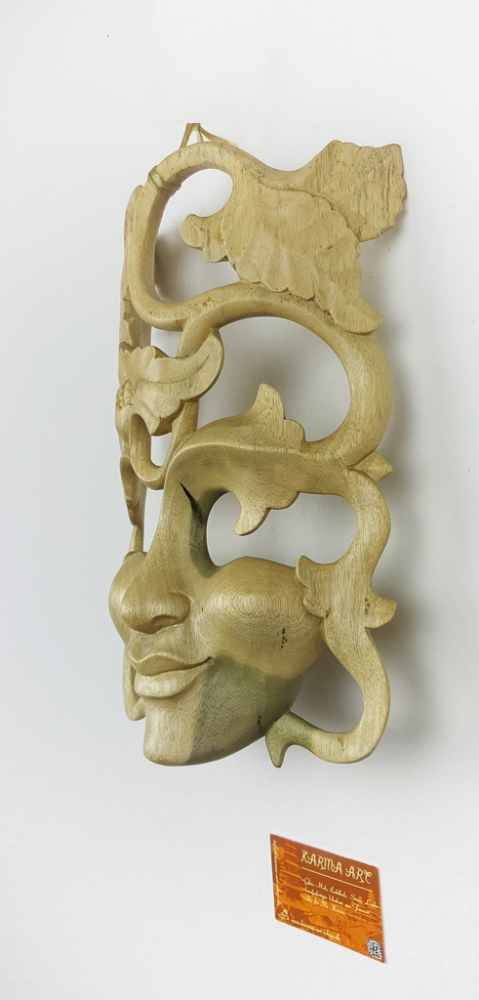 Mask from hibiscus wood, appr. 13inch