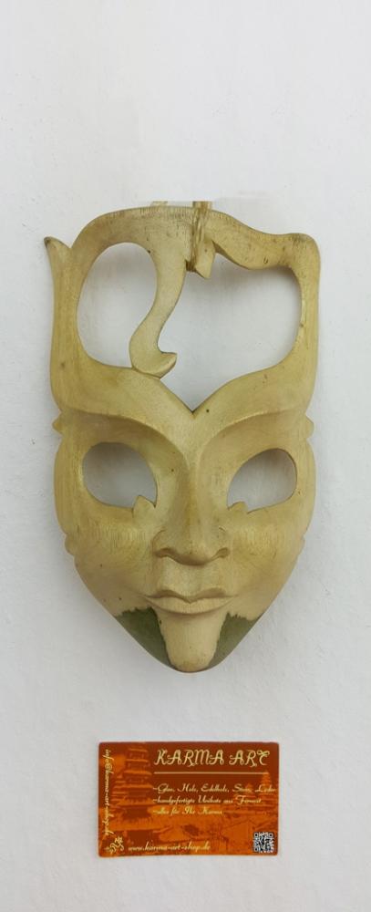 Hibiskusholz Maske, ca. 15cm
