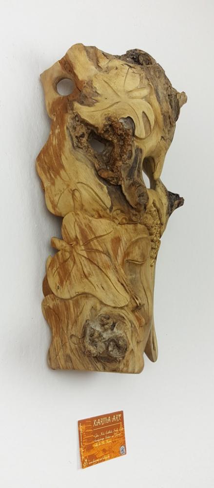 Hibiskusholz Maske, ca. 45cm