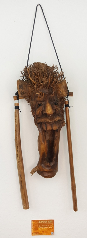 Bamboo Mask-Wind Chime, appr. 16inch