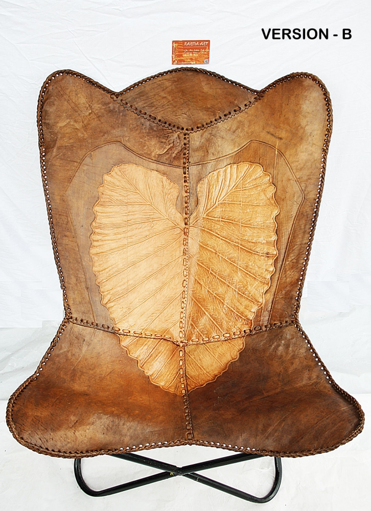 Butterfly Leatherchair - Ornament Comfort Leaf