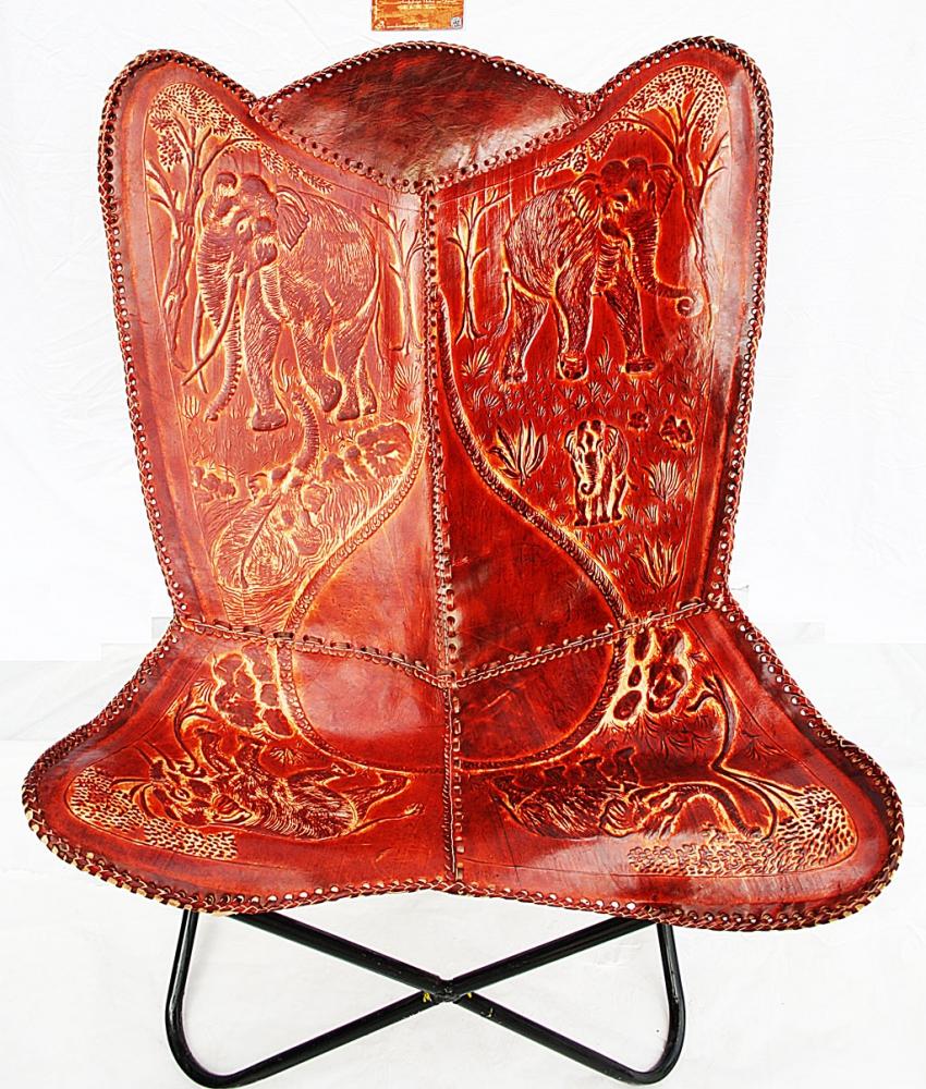 Butterfly Leatherchair - Ornament Comfort Elephant III