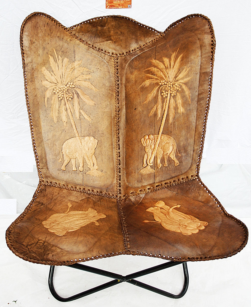 Butterfly Leatherchair - Ornament Comfort Elephant IV
