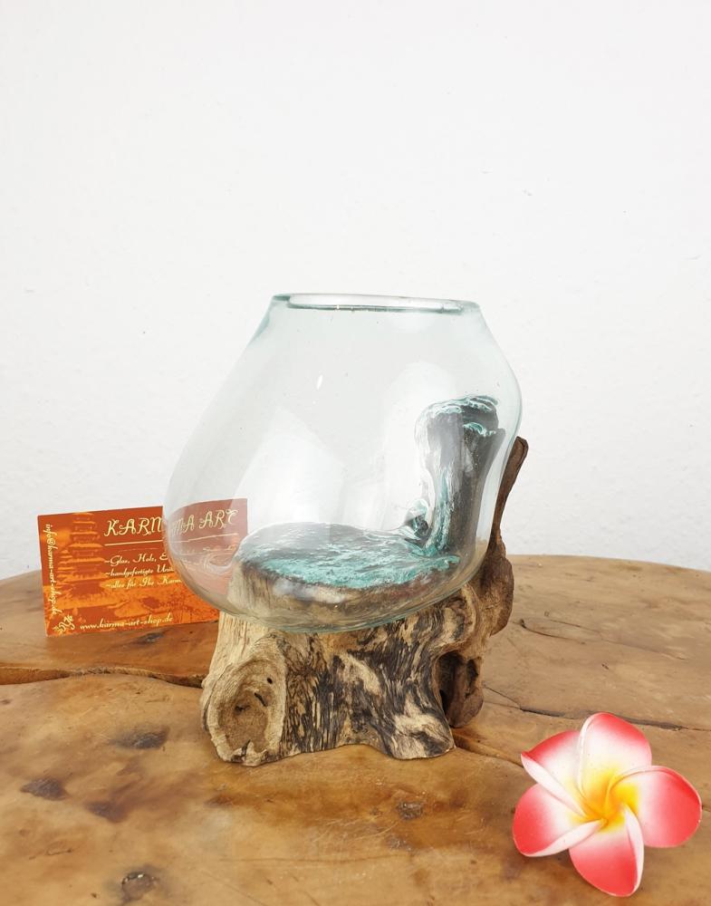 Wurzel mit Glas, ca. 12cm