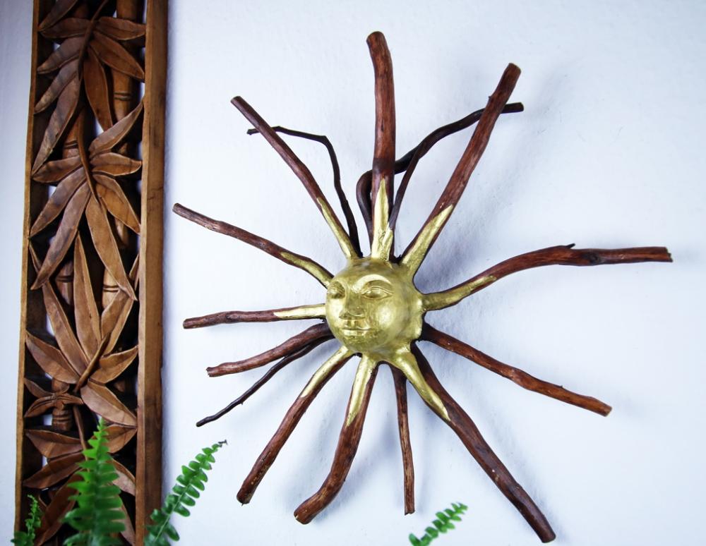 Baumwurzel mit  Sonne, ca. 40cm