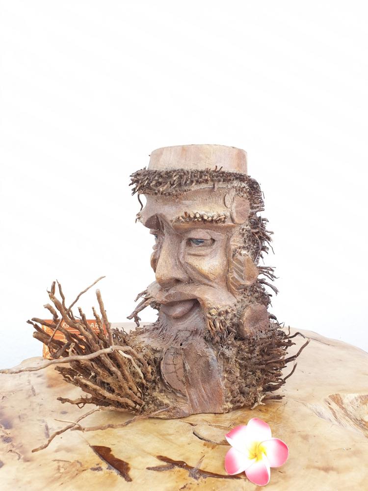 Bambus Kerzenhalter, Blumentopf ca. 20cm