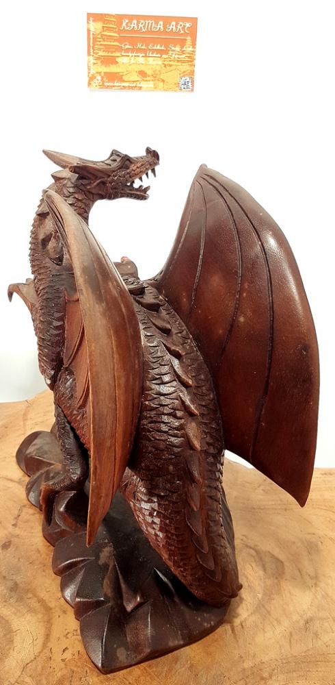 Drachen aus Teakholz, ca. 20cm