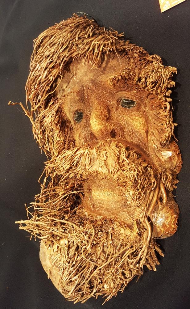 Bambus Maske, ca. 35cm