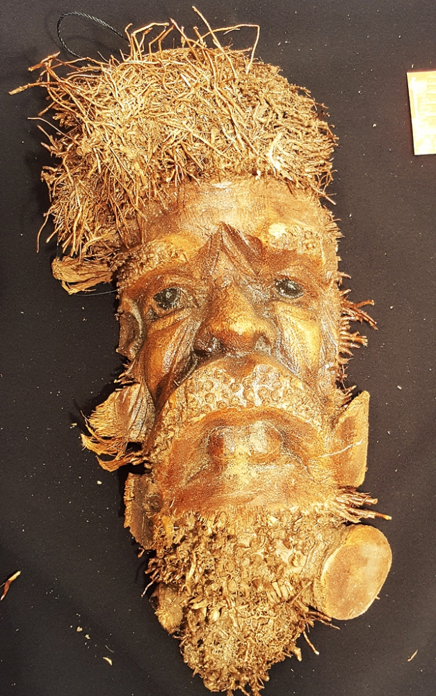 Bamboo Mask, appr. 12inch