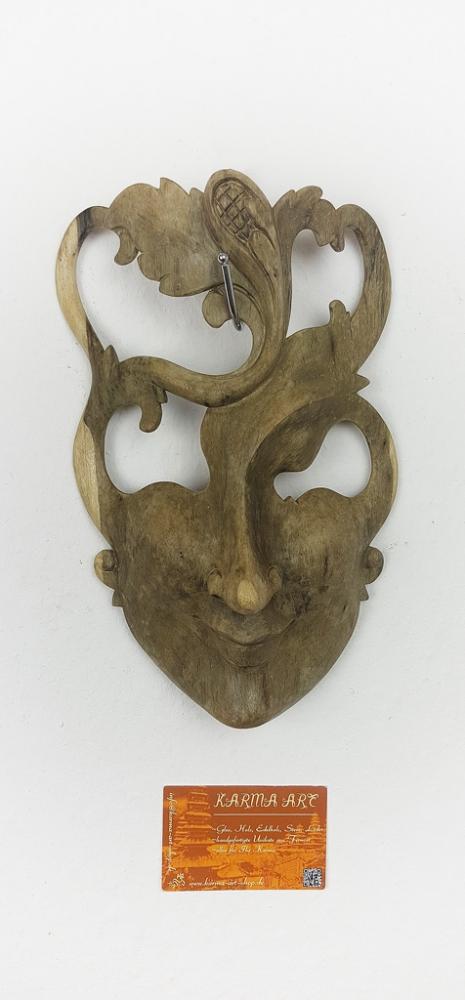 Hibiskusholz Maske, ca. 25cm